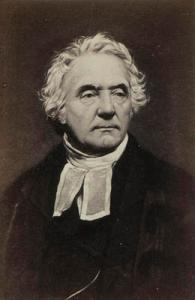 Thomas Chalmers, 19th century minister and leader of the Church of Scotland, displays a clerical cravat with tabs.