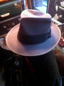 Dove grey beaver fur fedora.