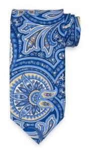 Blue paisley Paul Frederick tie