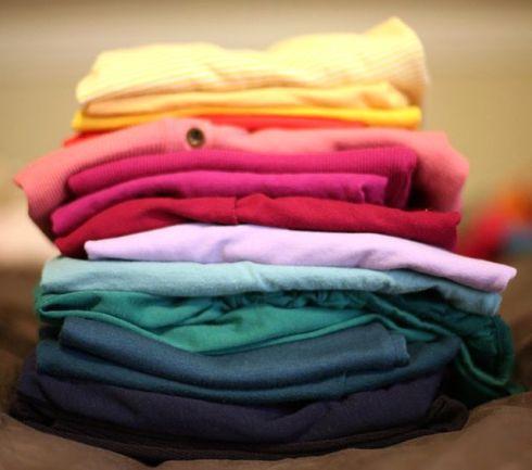 stack of shirts